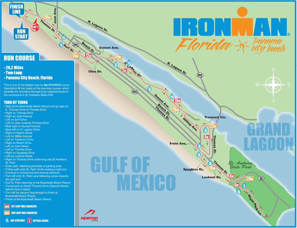 Florida Ironman Run Course David Nassau