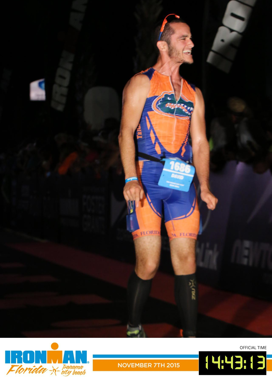 David Nassau Ironman Triathlon Finish